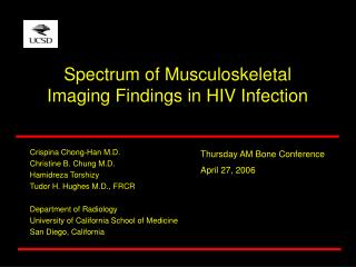 Spectrum of Musculoskeletal Imaging Findings in HIV Infection