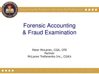 Forensic Accounting & Fraud Examination
