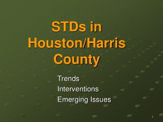 STDs in Houston/Harris County