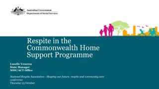 Respite in the Commonwealth  Home Support  Programme