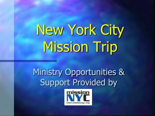 New York City Mission Trip