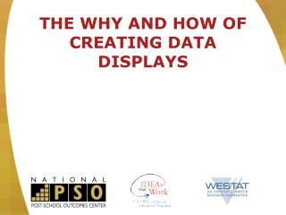 THE WHY AND HOW OF CREATING DATA DISPLAYS