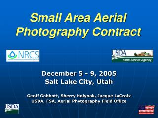 Small Area Aerial Photography Contract