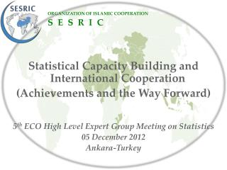 Statistical  Capacity Building and  International  Cooperation