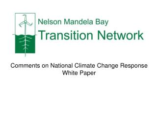 Comments on National Climate Change Response  White Paper