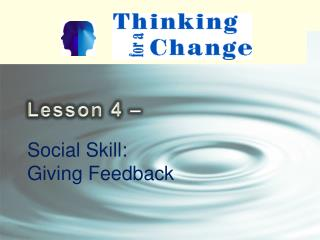Social Skill: Giving Feedback