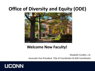 Office of Diversity and Equity (ODE)