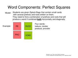Word Components: Perfect Squares