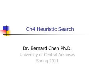 Ch4 Heuristic Search