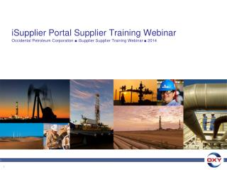 iSupplier Portal Supplier Training Webinar