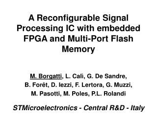 A Reconfigurable Signal Processing IC with embedded FPGA and Multi-Port Flash Memory