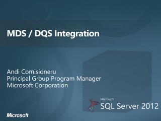 MDS / DQS Integration