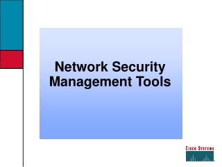 Network Security Management Tools