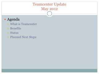 Teamcenter  Update May 2012