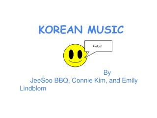 KOREAN MUSIC