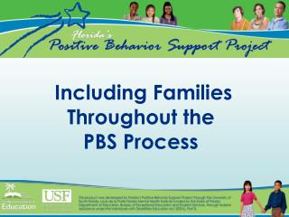 Including Families Throughout the PBS Process