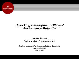 Unlocking Development Officers'  Performance Potential