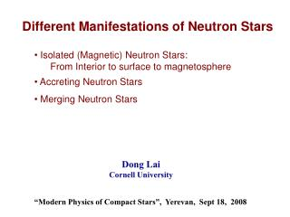 Isolated (Magnetic) Neutron Stars:       From Interior to surface to magnetosphere