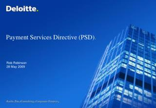 Payment Services Directive (PSD) .