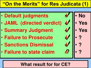 """On the Merits"" for Res Judicata (1)"
