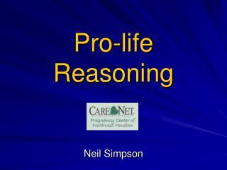 Pro-life Reasoning