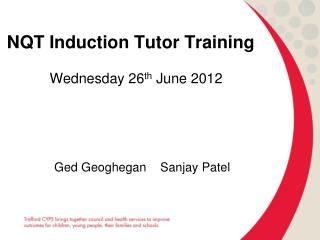 NQT Induction Tutor Training