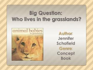 Big Question :  Who lives in the grasslands?