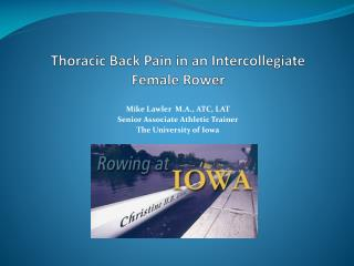Thoracic Back Pain in an Intercollegiate Female Rower