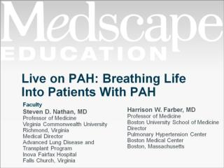 Live on PAH: Breathing Life Into Patients With PAH