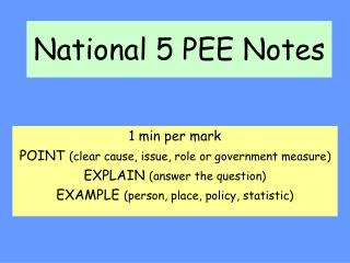 National 5 PEE Notes