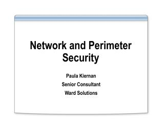 Network and Perimeter Security