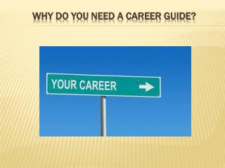 Why Do You Need a Career Guide?