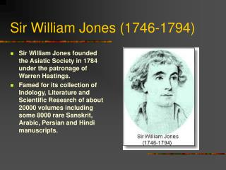 Sir William Jones (1746-1794)