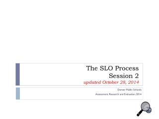 The SLO Process Session 2 updated October 28, 2014