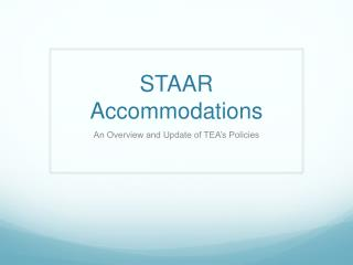 STAAR Accommodations
