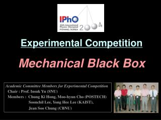 Experimental Competition Mechanical Black Box