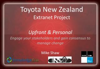 Toyota New Zealand Extranet Project