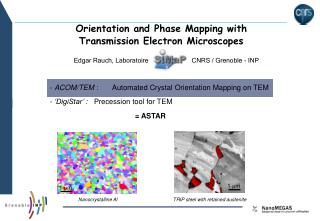 Orientation and Phase Mapping with Transmission Electron Microscopes