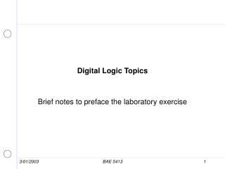 Digital Logic Topics