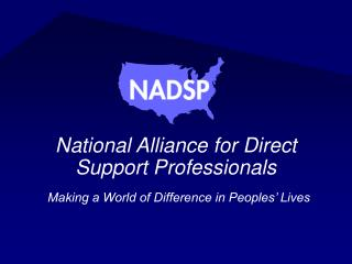 National Alliance for Direct Support Professionals