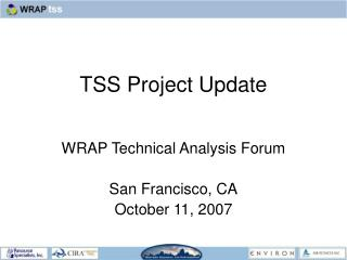 TSS Project Update