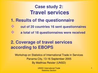 Case study 2: Travel services