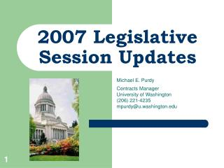 2007 Legislative Session Updates