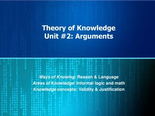 Theory of Knowledge Unit #2: Arguments