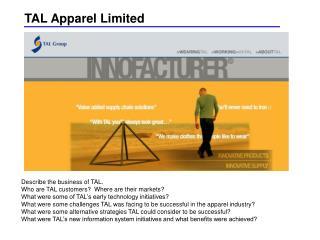 TAL Apparel Limited