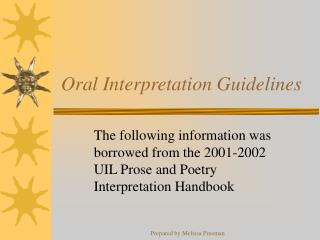 Oral Interpretation Guidelines