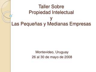 Taller Sobre  Propiedad Intelectual  y  Las Pequeñas y Medianas Empresas
