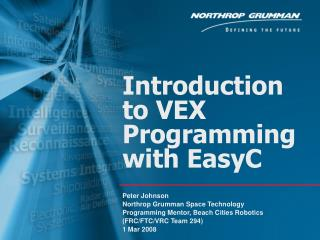 Introduction to VEX Programming with EasyC