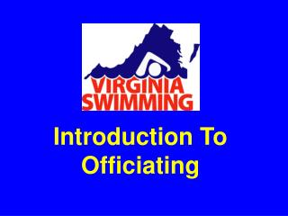 Introduction To Officiating