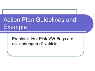 Action Plan Guidelines and Example: